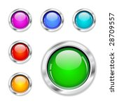 vector glossy buttons | Shutterstock .eps vector #28709557