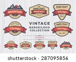set of vintage badge logo... | Shutterstock .eps vector #287095856
