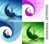 vector creative set of ramadan... | Shutterstock .eps vector #287096582