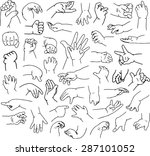 vector illustrations pack of... | Shutterstock .eps vector #287101052