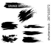 vector set of grunge brush... | Shutterstock .eps vector #287102072