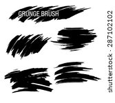 vector set of grunge brush... | Shutterstock .eps vector #287102102