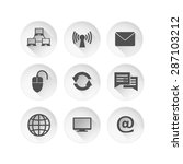 web icon's black set with long... | Shutterstock .eps vector #287103212