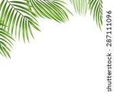 palm leaves vector background.  | Shutterstock .eps vector #287111096