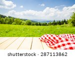 empty table with landscape... | Shutterstock . vector #287113862