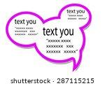 text messages   Shutterstock .eps vector #287115215