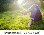 relaxing in a meadow in the...   Shutterstock . vector #287117135