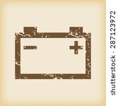 grungy brown icon with image of ...