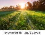 farm road in the meadows | Shutterstock . vector #287132936