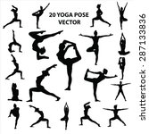20 Yoga Pose Vector