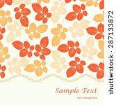 elegant seamless pattern with... | Shutterstock .eps vector #287133872