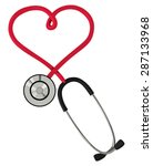Stethoscope In The Form Of...