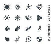 virus icons   Shutterstock .eps vector #287134898