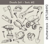 construction tool collection | Shutterstock .eps vector #287138492