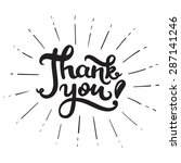 thank you  hand drawn lettering ... | Shutterstock .eps vector #287141246
