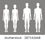 vector illustration of male and ... | Shutterstock .eps vector #287142668