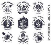 set of vintage coal mining... | Shutterstock .eps vector #287143976
