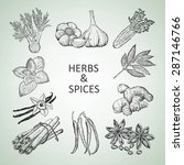herbs and spices | Shutterstock .eps vector #287146766