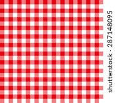 seamless coarse red checkered... | Shutterstock .eps vector #287148095