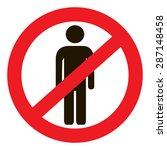no man icon | Shutterstock .eps vector #287148458