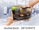 female hands framing custom... | Shutterstock . vector #287149472