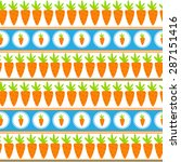 carrot seamless pattern...   Shutterstock .eps vector #287151416