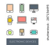 line icons of electronic...