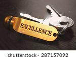 keys to excellence   concept on ... | Shutterstock . vector #287157092