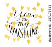 yellow watercolor hearts...   Shutterstock .eps vector #287179535