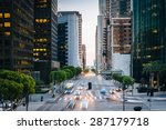 traffic and buildings on... | Shutterstock . vector #287179718