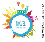 travel and tourism concept... | Shutterstock .eps vector #287182412