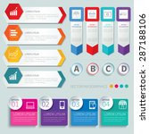 set of infographic templates | Shutterstock .eps vector #287188106