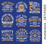 vintage athletic themed... | Shutterstock .eps vector #287193305