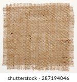 texture of burlap hessian... | Shutterstock . vector #287194046