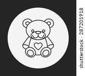bear doll line icon   Shutterstock .eps vector #287201918