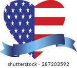 large heart with usa flag... | Shutterstock .eps vector #287203592