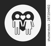 couple icon | Shutterstock .eps vector #287204402
