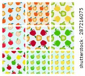 set of seamless pattern of... | Shutterstock .eps vector #287216075