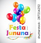festa junina background vector... | Shutterstock .eps vector #287216252