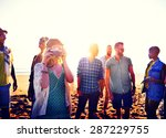 friendship freedom beach summer ... | Shutterstock . vector #287229755