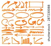 hand drawn arrows and graphic... | Shutterstock .eps vector #287230088