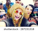 Diverse People Beach Summer...
