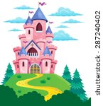 pink castle theme image 2  ... | Shutterstock .eps vector #287240402