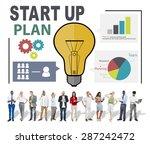 start up launch business ideas... | Shutterstock . vector #287242472