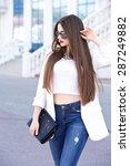 beautiful woman | Shutterstock . vector #287249882