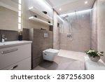 exclusive modern white bathroom ... | Shutterstock . vector #287256308