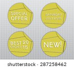 special offer stickers. yellow... | Shutterstock .eps vector #287258462