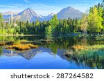 mountain lake strbske pleso in... | Shutterstock . vector #287264582
