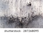 Soot Grimed Concrete Wall With...