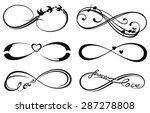 infinity love  forever symbol | Shutterstock .eps vector #287278808